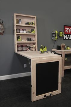 #DIY Murphy Workshop Table by Tom Bury. Download plans free at Ryobi Nation's Dream Workshop.