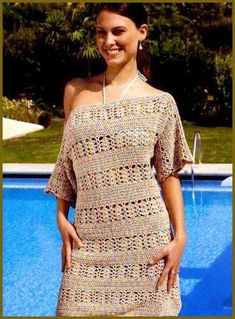 Beautiful crochet women summer beach dress van AsDidy op Etsy