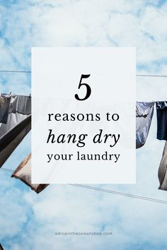 One of the easiest ways to live green is to hang dry your laundry! It's not only a great option for the planet, but also for our wallets. Here are my top 5 reasons to hang dry your laundry - even in a small apartment. Sustainable Clothing, Sustainable Living, Bleach Alternative, Natural Bleach, America Outfit, Drops In The Ocean, Save My Money, Green Living Tips, Girl Life Hacks