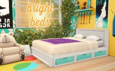 bright beds 1500 followers gift pt. 1/3 three of my all-time favorite double bed frames (the mattresses are separate!) recolored to brighten up any bedroom. they each come in 11 swatches from various...