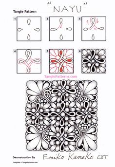 Zentangle Drawings, Doodles Zentangles, Doodle Drawings, Easy Drawings, Doodle Art Designs, Doodle Patterns, Zentangle Patterns, Zantangle Art, Zen Art