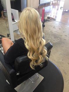 Andrea Prchal Hairstylist Scottsdale Arizona Primo studio hair salon follow me on Instagram: andreaprchalhairaz blonde extensions curls asu uofa tempe phoenix