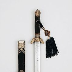 sword, aesthetic, and gold image