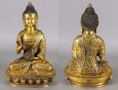 Figura-China-en-bronce-dorado-del-periodo-Ming-Siglo-XVII