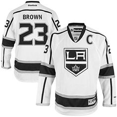 NHL Los Angeles Kings 23 Dustin Brown Mens Premier Jersey White color Size S *** Click image to review more details.(This is an Amazon affiliate link and I receive a commission for the sales)