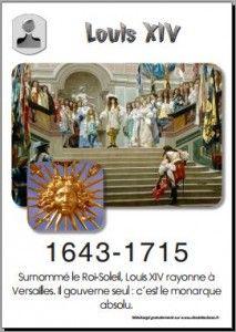 1643 - 1715 Louis XIV