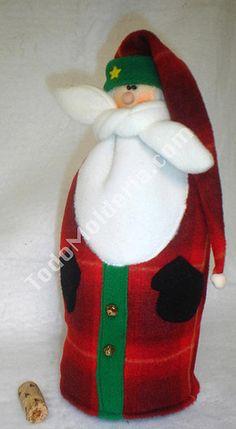 muñecos navideños botelleros - Buscar con Google