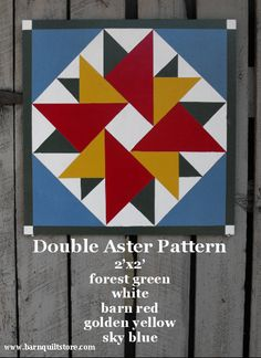 Barn Quilt, Double Aster Pattern