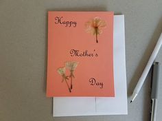Check out this item in my Etsy shop https://www.etsy.com/listing/527923207/mothers-day-card-pressed-flower-art