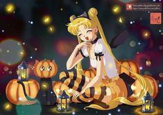 A little bit of Sailor Moon for Halloween _. Sailor Moon Sailor Stars, Sailor Moon Manga, Darien Sailor Moon, Sailor Moon Fan Art, Anime Halloween, Sailor Moon Halloween, Kawaii Halloween, Happy Halloween, Sailor Moon Cosplay