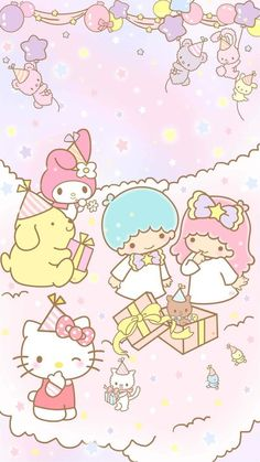 Little Twin Stars. My Melody. Hello Kitty. Pompompurin.
