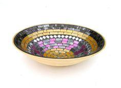 Bamboo mosaic bowl.