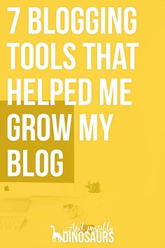 Growing your blog is on every blogger's wish list. And because of this, that's the #1 sales pitch of most blogging tools, be they products or services. So, among all of the crap, how do you tell which blogging tools are helpful and which ones aren't worth the investment? Experience. Whether it's your own experience or someone else's. So I want to share the seven blogging tools that have helped me grow my blog over the last 2+ years. Click through for the list!