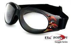 Black Frame/Clear Lens.  #bobster @bobstereyewear #goggles #anysunglasses #protective #sunglasses #sunnies #sunglass www.anysunglasses.com www.pinterest.com/anysunglasses