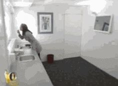 The great mirror prank… funny gif