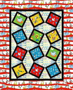 Dr Seuss pattern quilt.  I love it.