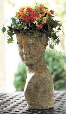 face & flower hair.