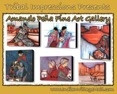 The Amando Peña Fine Art Gallery And Collection  One Of Tribal & Western Impression's Favorite Artists And We   Know You Will Agree With Us! The True Pioneer When It  Comes To Modern Western And Indianart! Signed Limited Edition  Posters And Signed Prints. Review The Peña Collection off of: http://www.indianvillagemall.com/pena/penamenu.html