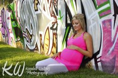 Graffiti Maternity featuring the glowing Mundle Boy Maternity Photos, Baby Bump Photos, Pregnancy Photos, Expecting Baby, Baby Bumps, Photo Sessions, Kendall, Photo Shoot, Graffiti