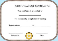 Certificate Of Contract Completion Template  Certificate Of