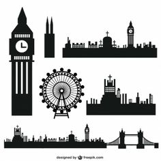 More than a million free vectors, PSD, photos and free icons. Exclusive freebies and all graphic resources that you need for your projects London Silhouette, Silhouette Curio, Silhouette Portrait, London City, London Skyline, Stylo 3d, Photos Hd, London Landmarks, Modelos 3d