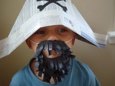 Homemade Paper Beard....quick pirate costume