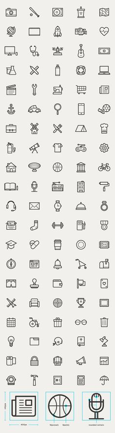 Free Outline Icons for UI Designers Fresh new free Outline icon sets for website mockups, mobile app user interface and graphic design projects. There are outline icons! All icons are symbols drawing Icon Design, App Design, Logo Design, Flat Design, Icon Set, Bacon Wrapped Chicken Tenders, Chicken Bacon, Coffee Icon, Coffee Coffee