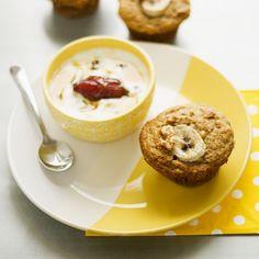 Muffins moelleux yogourt, bananes et noix | .recettes.qc.ca
