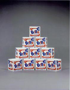 A. Warhol, Ten brillo boxes '68