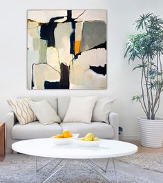 ABSTRACT PAINTING large abstract painting on by SarinaDiakosArt