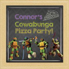 Teenage Mutant Ninja Turtle Pizza Box Label  by NineLivesNotEnough