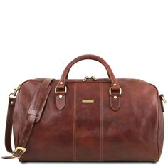 91eaedf67e Tuscany Leather Lisbona Travel Leather Duffle Bag - Large Size Full grain  vegetable tanned leather hand-buffered Cotton lining Soft structure ...