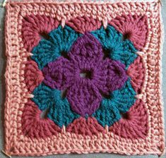 Transcendent Crochet a Solid Granny Square Ideas. Inconceivable Crochet a Solid Granny Square Ideas. Crochet Granny Square Afghan, Crochet Blocks, Granny Square Crochet Pattern, Afghan Crochet Patterns, Crochet Chart, Crochet Squares, Crochet Motif, Crochet Designs, Knitting Patterns