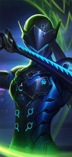 Genji Overwatch Art 4k In 2020 Overwatch Wallpapers Overwatch Mobile Wallpaper Genji Wallpaper