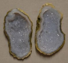Tabasco Geode 1 Pair Cut and Polished Great for Jewelry 25723