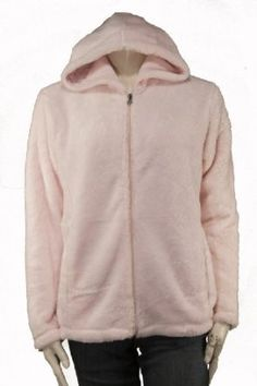 Misses Soft Fleece Zip Up Jacket in Pink, Size Large LabelShopper. $14.99
