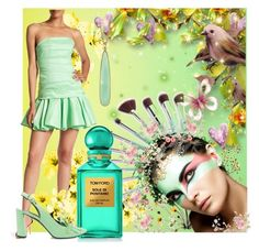 """""""Mint Green, Must Be Seen"""" by mystic2awesome ❤ liked on Polyvore featuring Designers Guild, Halston Heritage, Irene Neuwirth, Tom Ford and Casadei"""
