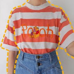 """67a75ef6ccc23 alex 🦋🌻♂ on Instagram  """"which outfit would you wear  • swipe to see all  the winnie the pooh clothes I ve thrifted! (first 2 r from depop 💛)"""""""