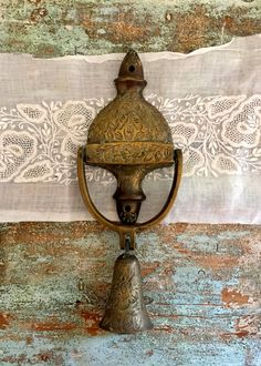 Vintage Brass door Knocker by Brimfieldfinds on Etsy