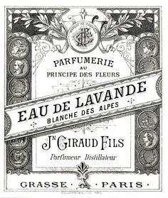 Antique Perfume Label Image - The Graphics Fairy