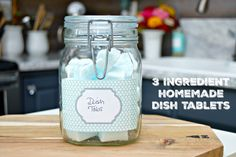Make easy and inexpensive dish tabs in minutes with a few household ingredients. This cleaning hack will leave your dishes sparkling clean!