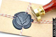 B20 Wax Seal Stamp Halloween Gothic Bat by Backtozero on Etsy