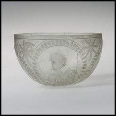 !! ABRASION is a cutting technique where shallow grinding is done with a wheel or other tool; decorated areas are left unpolished. (Roman blown bowl, 4th Century)