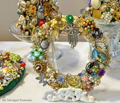 My Salvaged Treasures: My Mom's Jeweled Creations