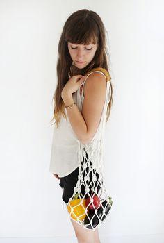 DIY: rope market bag