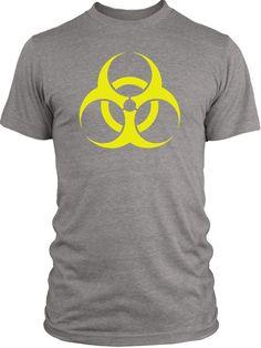 Big Texas BioHazard (Yellow) Vintage Tri-Blend T-Shirt