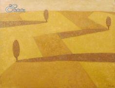 """""""Castilla III"""", Concha Ibáñez. Óleo sobre tela. Dimensiones: 116 x 89 cm"""