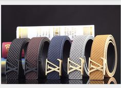 louis vuitton belts men black and gold - Google zoeken