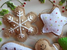 Felt Christmas Cookie Ornaments by GingerSweetCrafts on Etsy, $21.99
