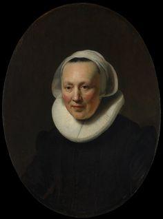Portrait of a Woman Artist: Rembrandt (Rembrandt van Rijn) (Dutch, Leiden 1606–1669 Amsterdam) Date: 1633 Medium: Oil on wood Dimensions: Oval, 26 3/4 x 19 3/4 in. (67.9 x 50.2 cm) Classification: Paintings